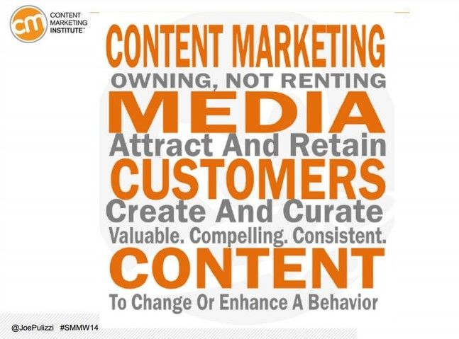 Content marketing mission statement