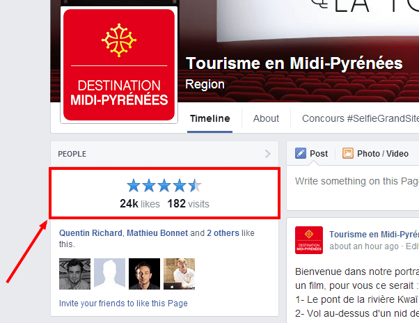Facebook reviews much more visible