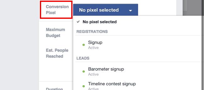 Facebook Boost Post Add Conversion Pixel