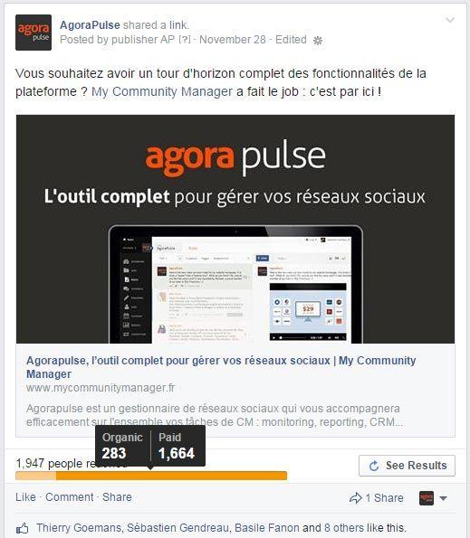 agorapulse facebook post
