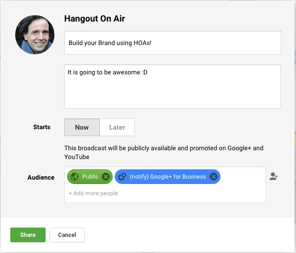 Build your brand with a Google HOA