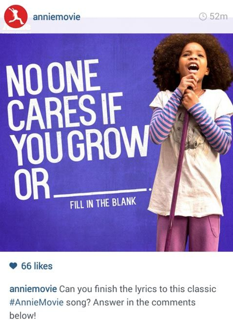 Annie Move Fill in the blank Instagram Post