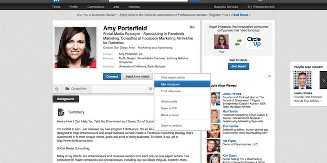 Get Introduced On LinkedIn
