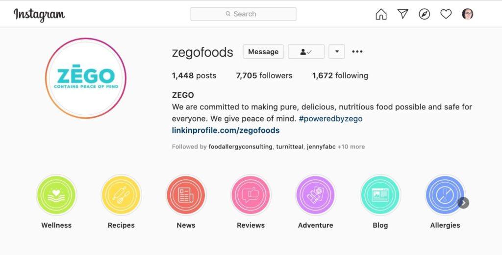 example of instagram stories