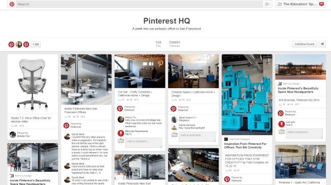 Pinterest Headquarters Pinterest Board