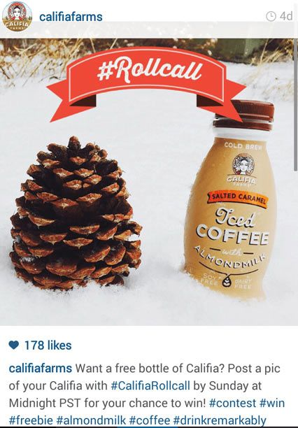 califia farms instagram