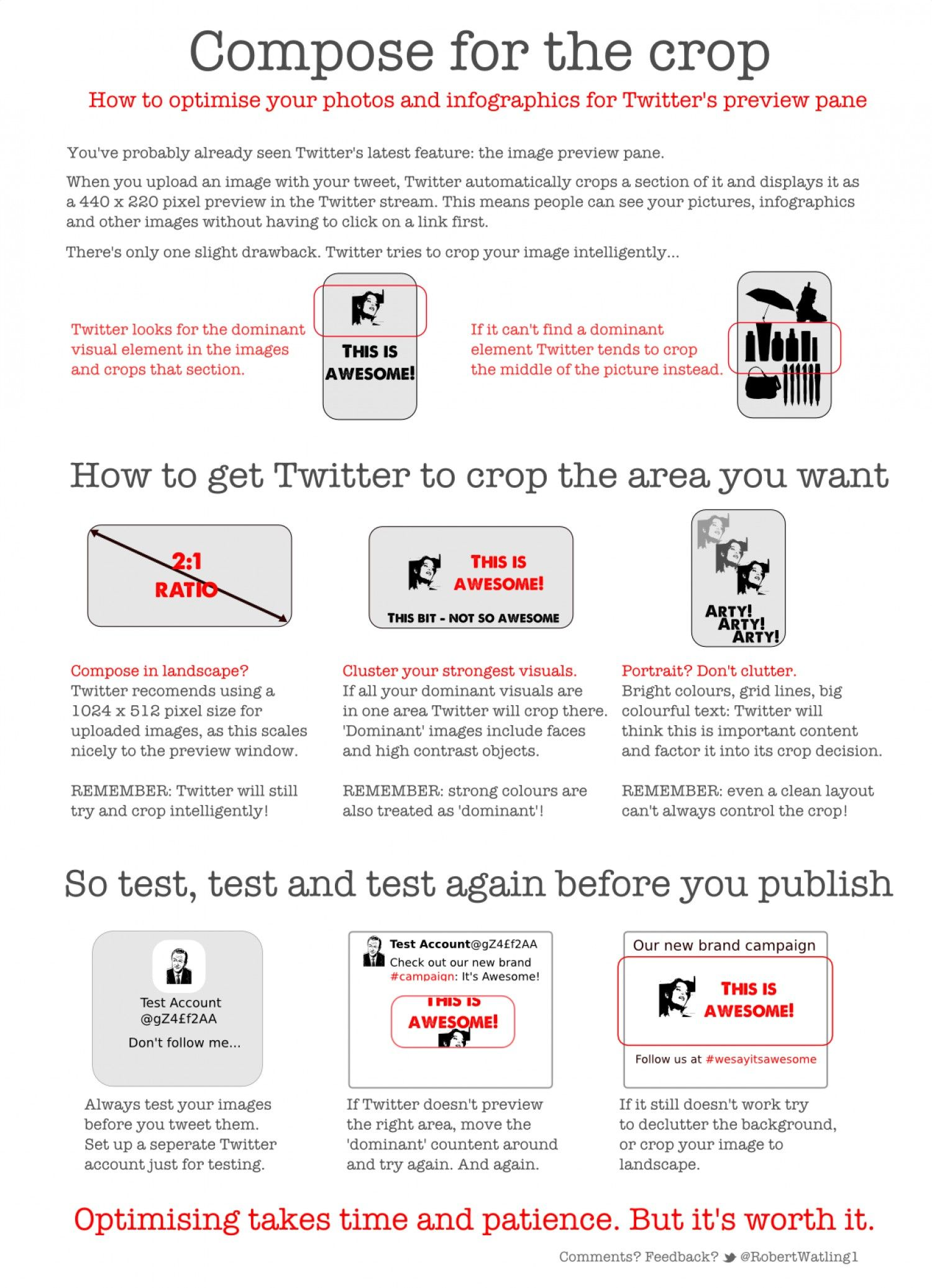 How to compose your Twitter images for the crop via Bob Watling