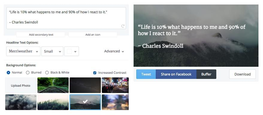 Create Twitter images quickly and easily with Pablo