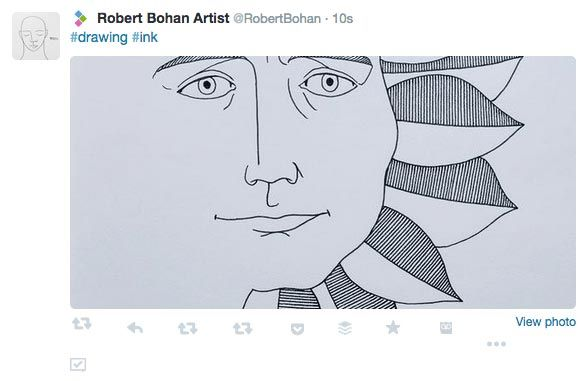 Robert Bohan uses Twitter images to show off samples of your work.