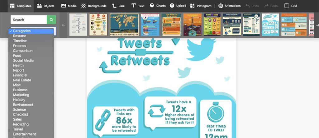 easel.ly is one of our favorite free social media marketing tools