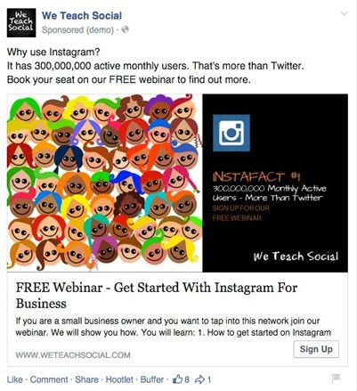 Show the benefits, by doing this webinar you would learn more Instagram facts.