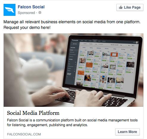same link facebook ad