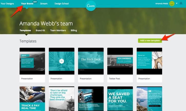 templates in canva for work