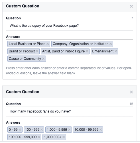 Add Custom Questions to Facebook Lead Ads