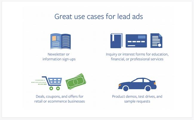 Business use cases for Facebook lead ads