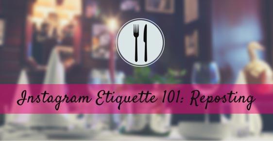 instagram etiquette