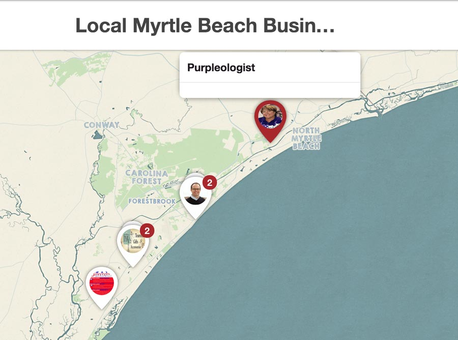 Place Pins Example on Pinterest