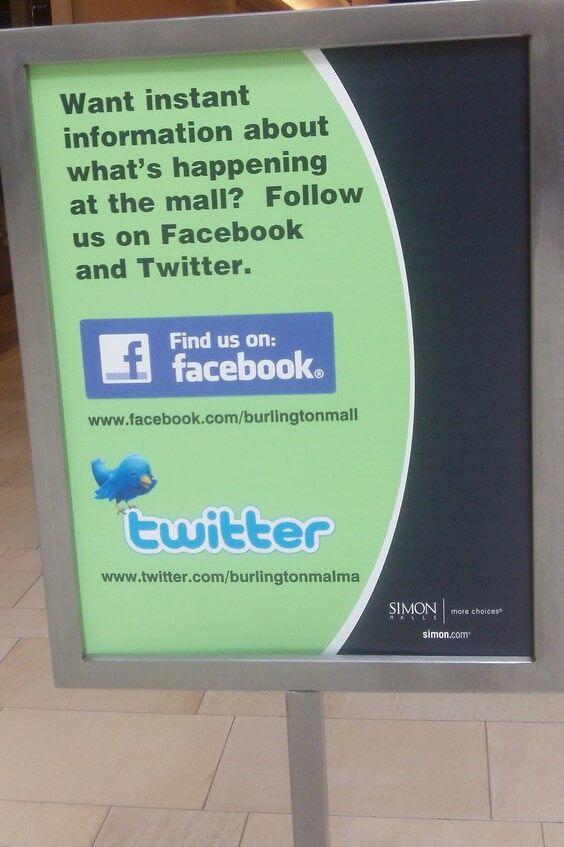 social media marketing shopping mall