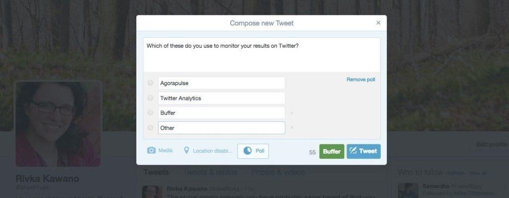 Twitter polls example