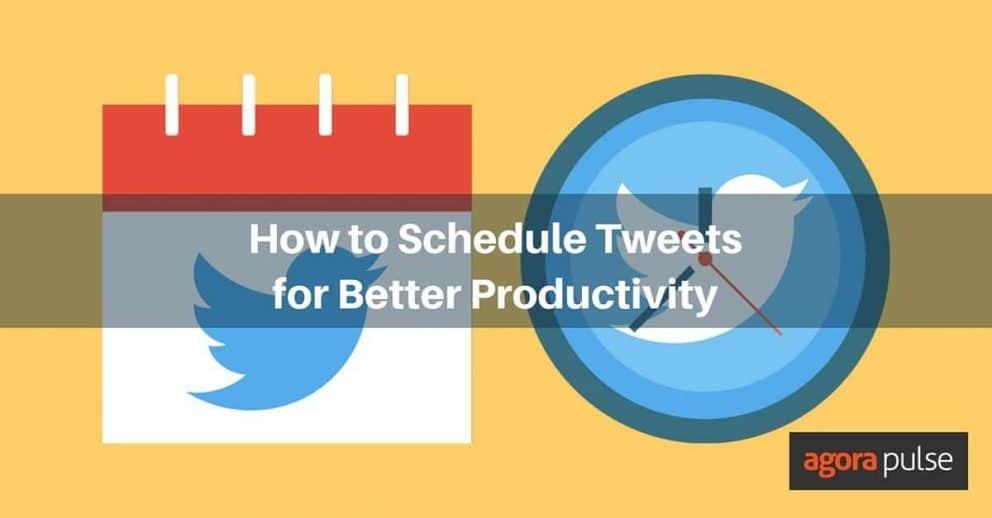 Schedule Tweets Productivity