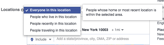 Setting up Facebook location targeting for your ad campaign