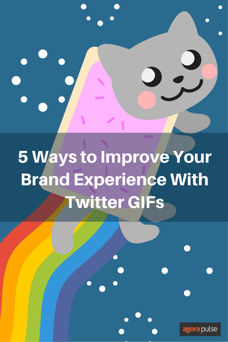5 Ways to Improve Your Brand Experience with Twitter GIFs. Remember that your tweets don't have to be just about text. Try incorporating GIFs in your Twitter content strategy.
