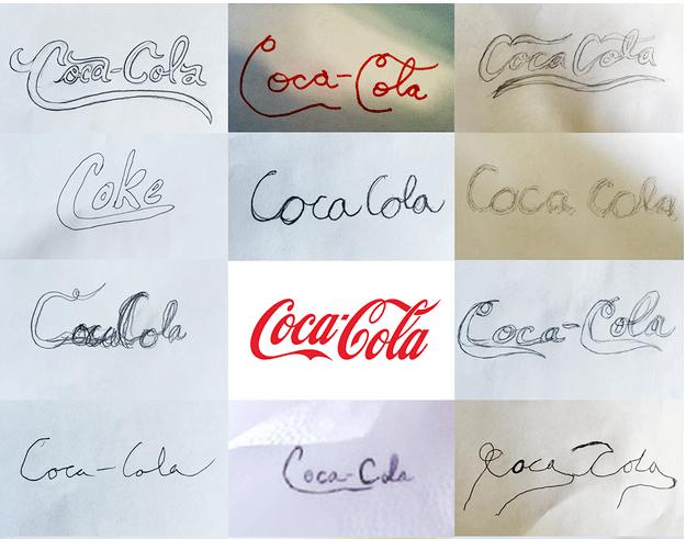 cocacola brand sketch of logo