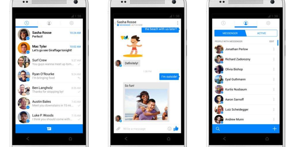 The Facebook Messenger App