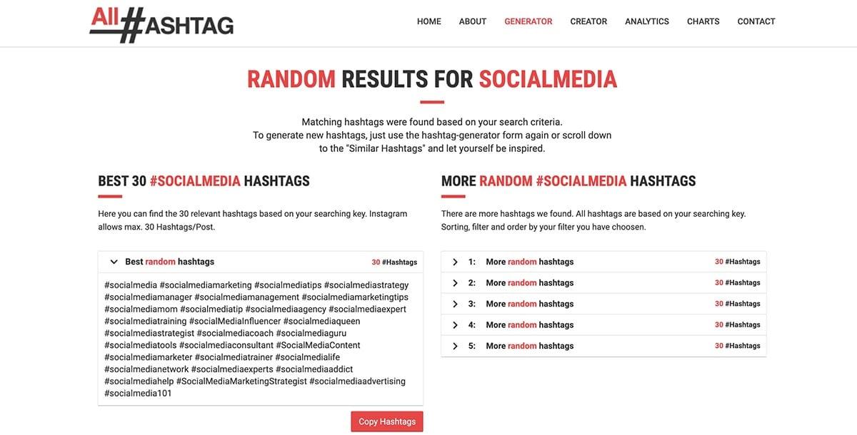 hashtag tool example all hashtag
