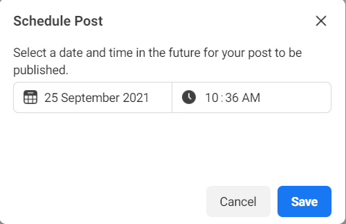 scheduling facebook posts screenshot