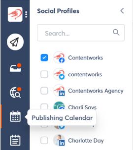 screenshot of social profiles on agorapulse