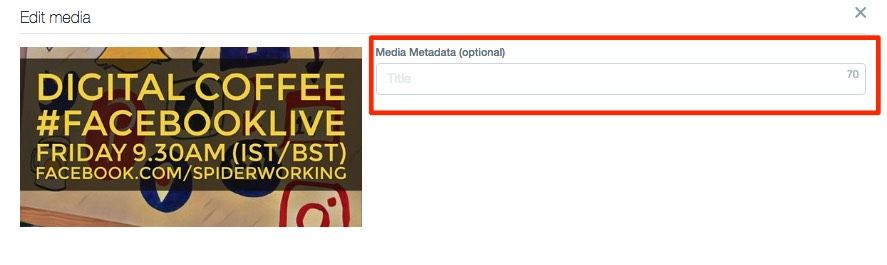 Add meta data to any image or video in your library
