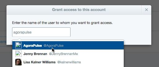 To add a user to Twitter Media Studio search for them by their Twitter user name