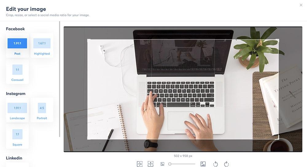 edit images in your social media scheduler