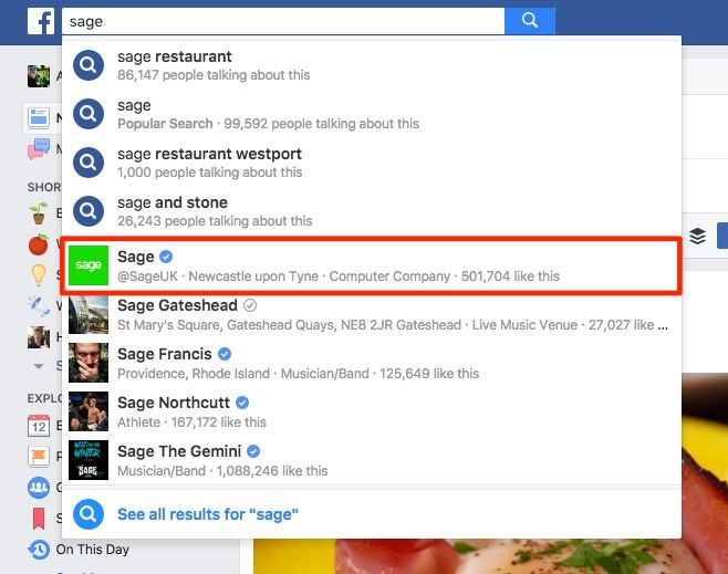 Having a Global page means Facebookers will always find the right page in search
