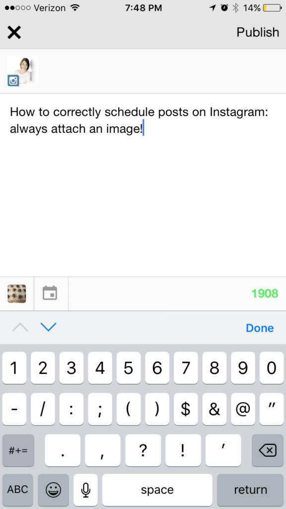 uploading Instagram photos