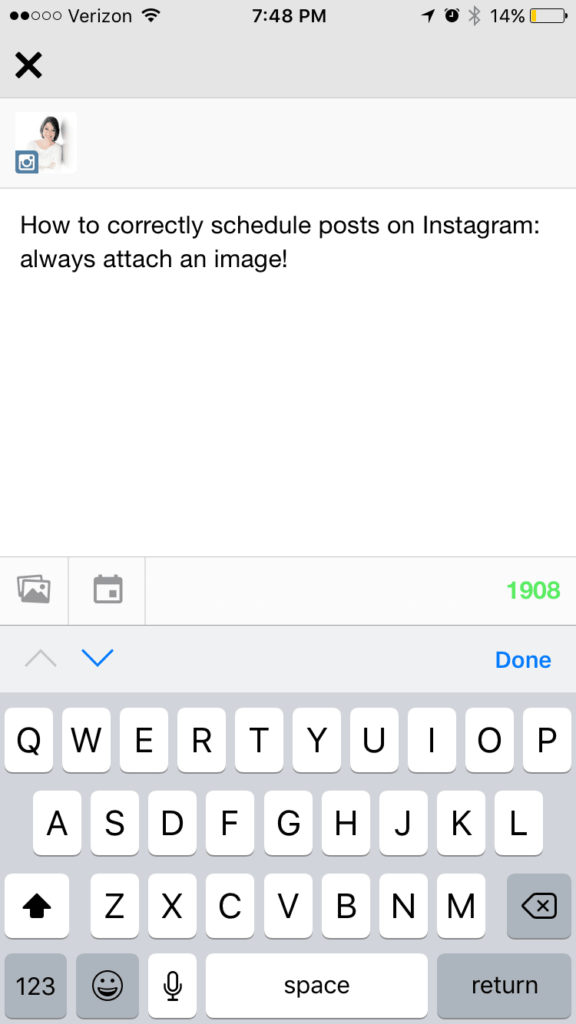 posting to instagram