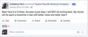 negative reviews facebook page