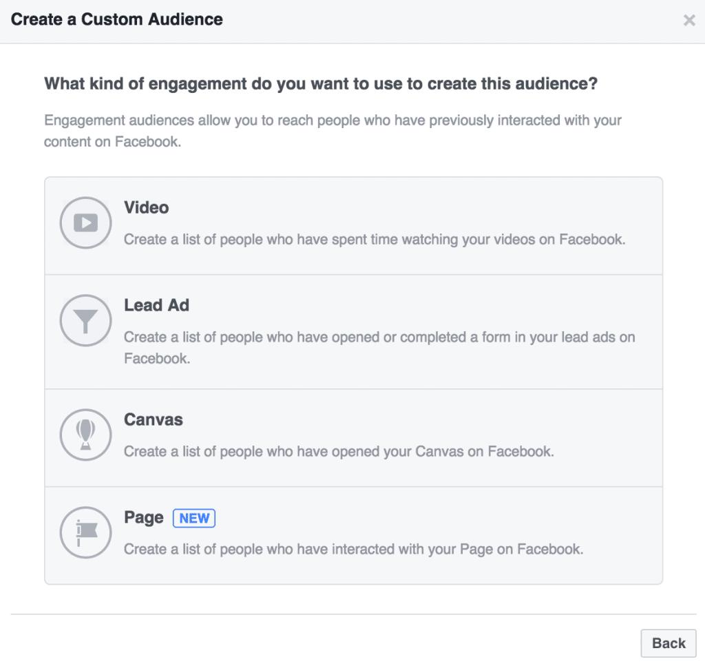 Engagement on Facebook Custom Audiences