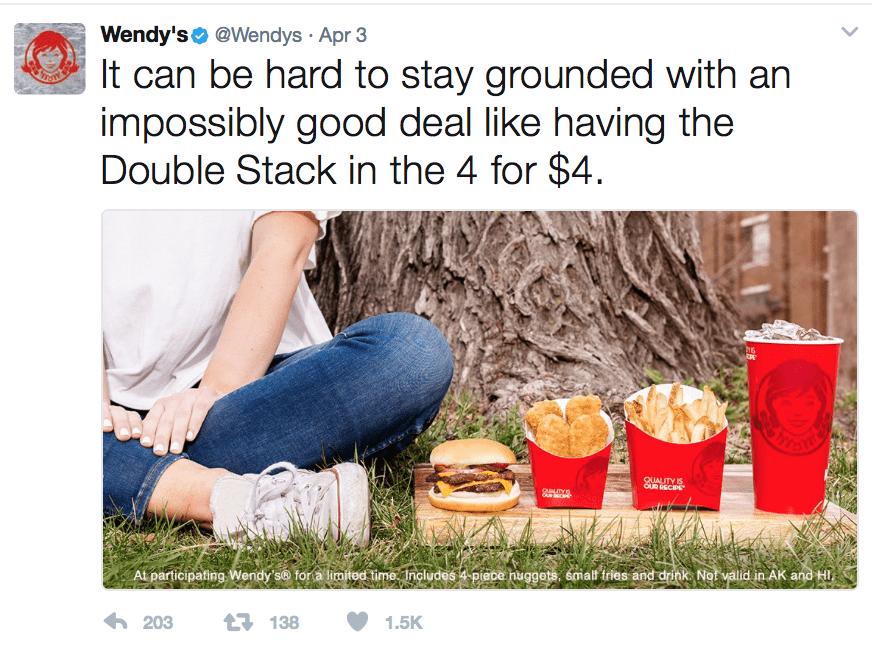 wendys twitter account