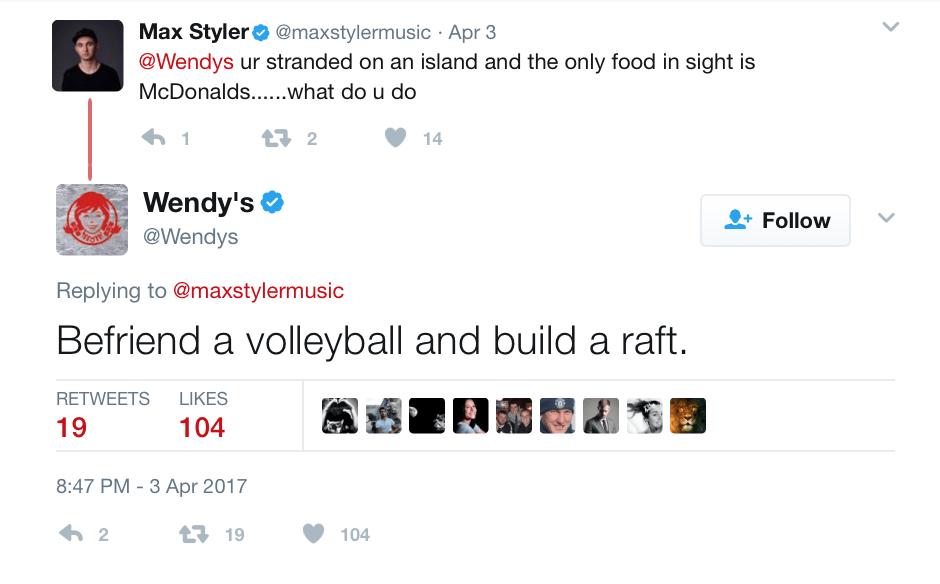 Wendy's throws shade at McDonalds