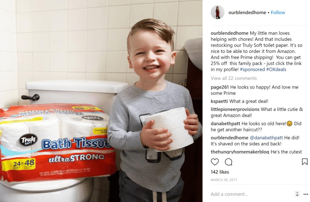 sponsored toilet paper
