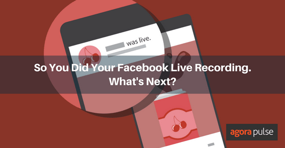 Facebook Live recording content uses