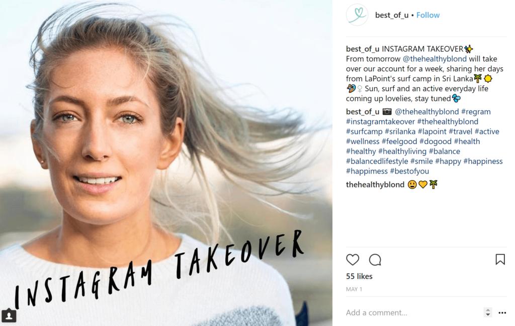 instagram influencer takeover