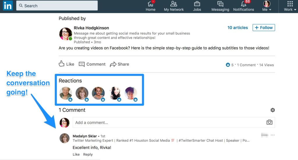 how to engage with readers on linkedin