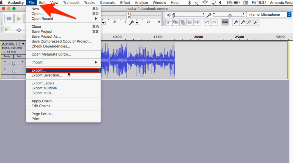 Use Audacity to repurpose your video content into an audio file for podcasting
