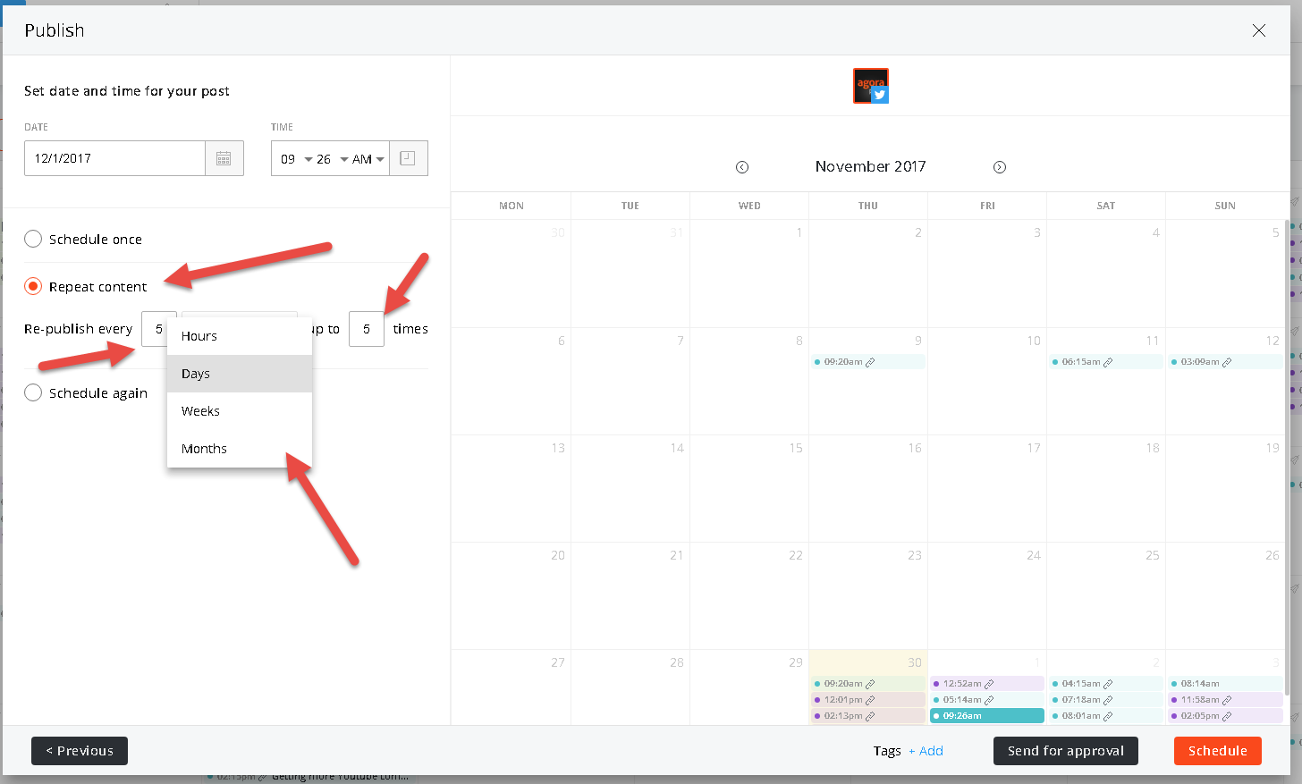 scheduling evergreen content