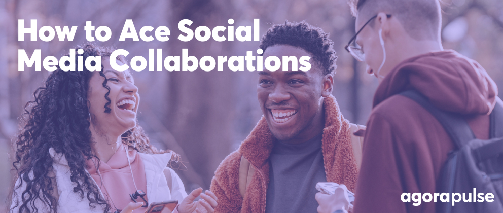 header image of how to ace social media collaboration