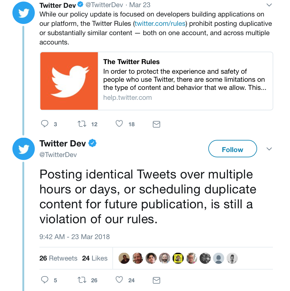 Twitter spam rules: Twitter's new policy