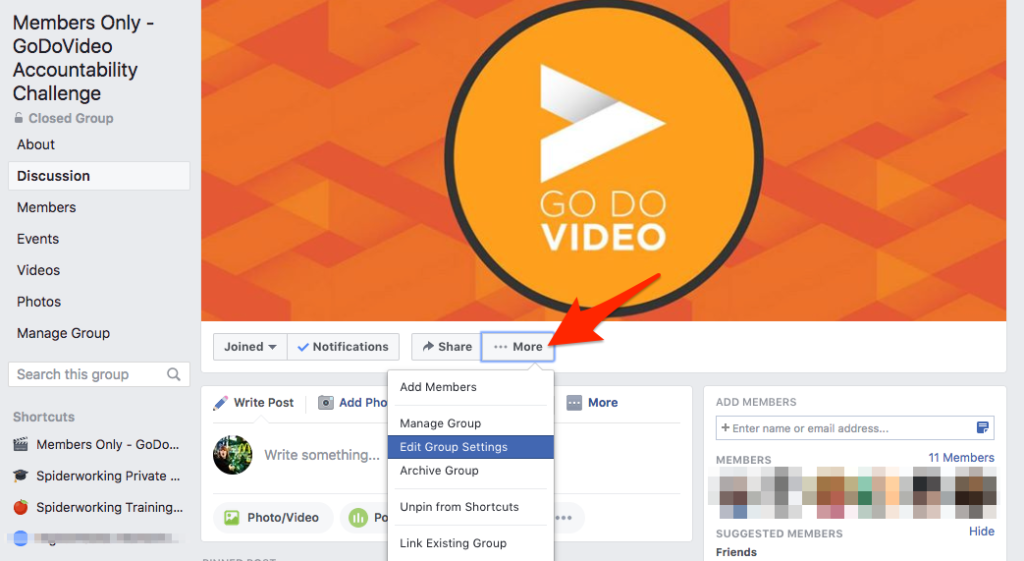 Keep my Facebook group alive: Link your Facebook Group to your Facebook page